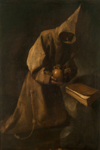 St. Francis during contemplation