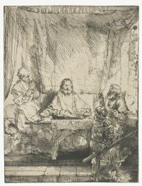 Рембрандт Харменс ван Рейн. Христос в Эммаусе
