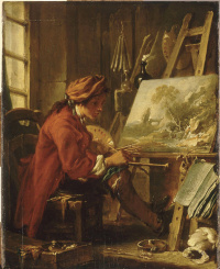The artist in his Studio