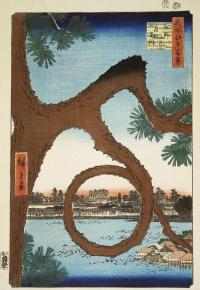 "Moon pine at Ueno. The series ""100 famous views of Edo"""