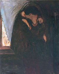 Edward Munch. Kiss