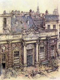 Anton Rush. House with fountain