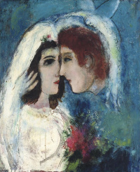 The lovers in profile