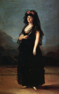 Portrait of Queen Maria Luisa in a Mantilla