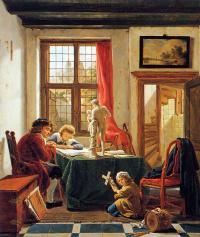 Абрахам ван Стрий. Урок рисования