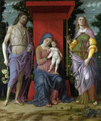 Андреа Мантенья. Мадонна со Святой Марией Магдаленой и Святым Иоанном Крестителем