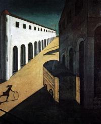 Giorgio de Chirico. Melancholy and mystery of a street
