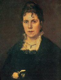 Portrait Of Sofia Nikolaevna Kramskoy. Fragment