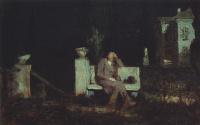 Moonlit night. Meditation