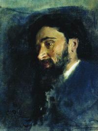 Ilya Efimovich Repin. Portrait of writer V. M. Garshin