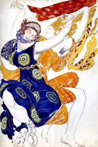 Costume design beautyskin girls to ballet N. N. Tcherepnin Narcisse