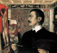 Self portrait in the Studio in Munich