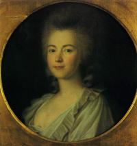 Portrait of an unknown woman in white (a Portrait of T. A. Vetoshnikov ) . 1786