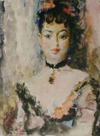 Портрет балерины Люции Юмашевой. 1949