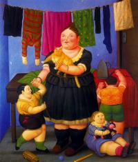 Фернандо Ботеро. Женщина с рыжим котом