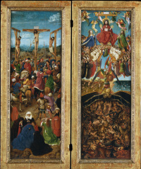 Diptych. The crucifixion and the last judgment