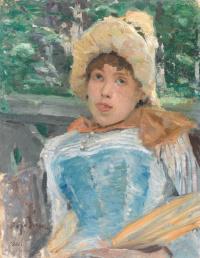Konstantin Alekseevich Korovin. Portrait of a chorus girl