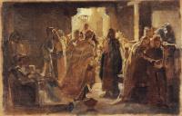 Николай Николаевич Ге. Христос в синагоге. Эскиз неосуществленной картины