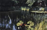 Исаак Ильич Левитан. Осока и водяные лилии