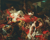 Смерть Сарданапала II (1844)