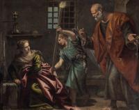 Паоло Веронезе. Святой Пётр посещает святую Агату в тюрьме
