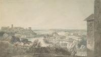 Рим. Тибр и холм Авентин слева