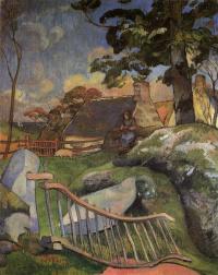 Paul Gauguin. Wooden gate (the swineherd)