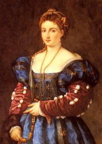 Портрет дамы в итальянском костюме