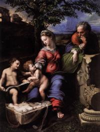 Рафаэль Санти. Святое семейство под дубом