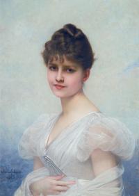 Портрет Эдит Кэролайн Уоррен-Миллер (1866-1944). 1885