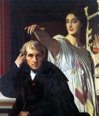 Жан Огюст Доминик Энгр. Композитор Керубини с музой лирической поэзии