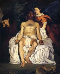 Мертвый Христос с двумя ангелами