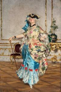 Elegant lady. 1871