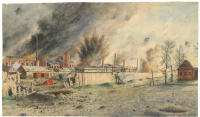 The artillery attack