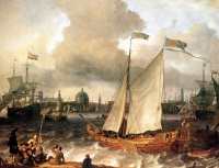 Людольф Бакхёйзен. Порт Амстердама