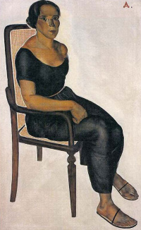 The girl on the chair