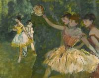 Эдгар Дега. Танцовщицы с тамбурином на сцене