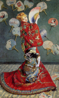 La Japonaise. Camille in Japanese kimono