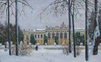 Евгений Александрович Казанцев. Зима в Тимирязевском парке.