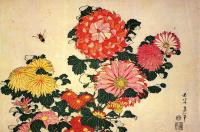 Chrysanthemum and Bee