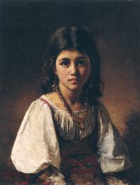 Портрет девочки-цыганки.