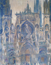 Rouen Cathedral, study of the main entrance