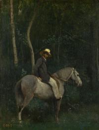 Monsieur beer on horseback
