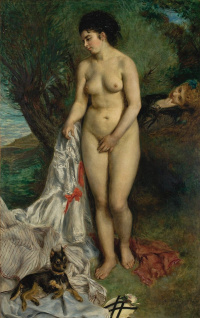 Nude with a griffin