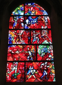Витраж кафедрального собора в Чичестере, Великобритания