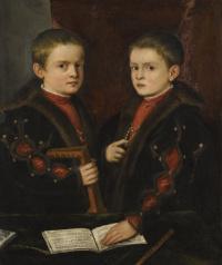 Тициан Вечеллио. Портрет двух мальчиков из семьи Пезаро
