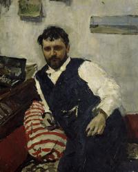 Portrait of the artist Konstantin Korovin