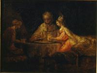Рембрандт Харменс ван Рейн. Артаксеркс, Аман и Эсфирь