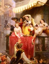 Вильгельм Видер. Карнавал в Риме