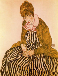Portrait of Edith Schiele, the artist's wife